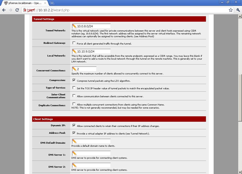 pfSense 2 0 RC1 configuration of OpenVPN Server for Road Warrior