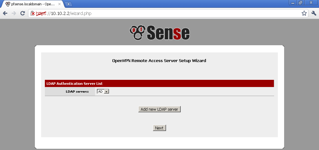 OpenVPN with LDAP authentication on pfSense 2 0 RC1