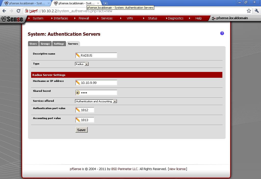 OpenVPN with RADIUS authentication on pfSense 2 0 RC1 - Stefcho's