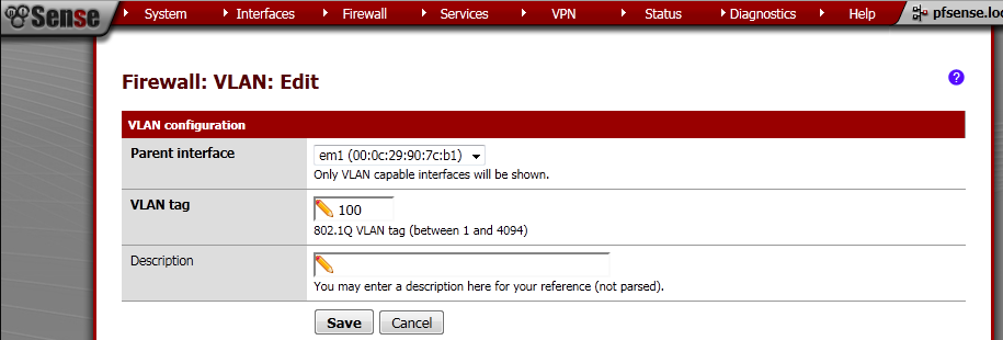 pfSense-On-A-Stick - 802 1Q Trunking With pfSense 2 0 RC1 and