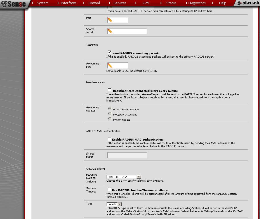 pfSense 2 0 RC1 - Captive Portal with RADIUS Authentication